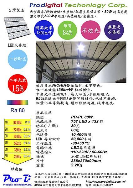 PD-HB 80W 超高亮度LED天井燈