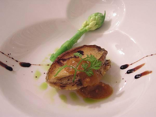 集雅朵 -- 熱前菜.香煎小鮑魚佐綠蕃茄醬汁