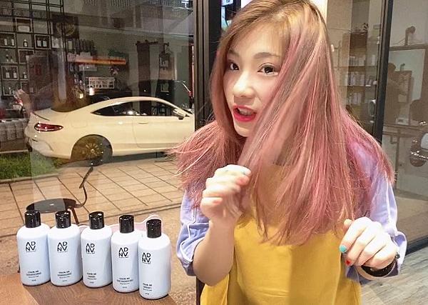 護色洗髮精 使用完粉紅色之後