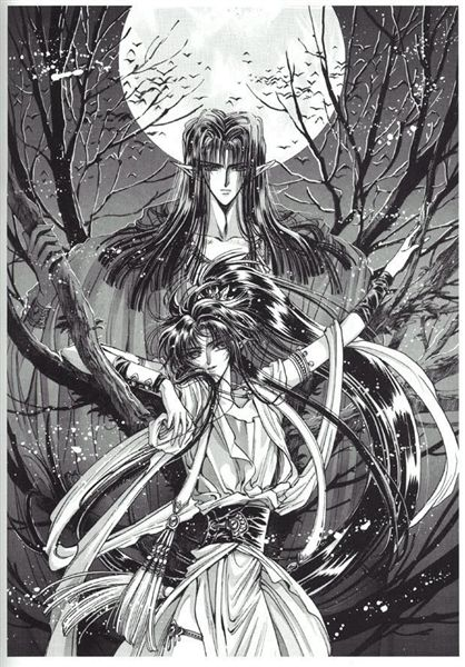 CLAMP聖傳-阿修羅父子-黑白.jpg