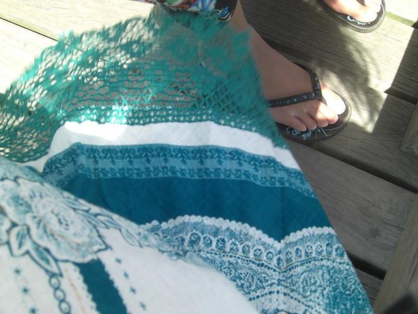 我的裙子&綺的腳