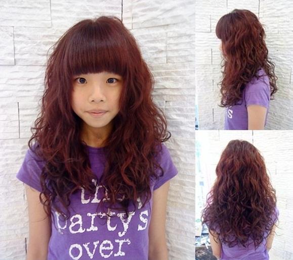 ★超級 陶瓷娃娃 燙髮 質感酒紅髮色★