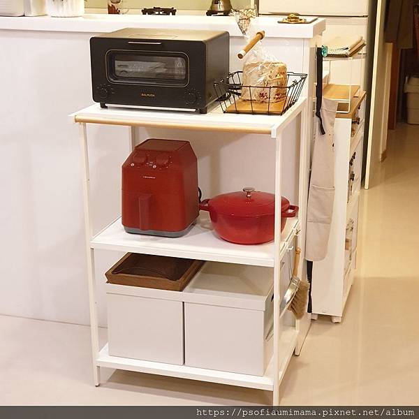 tower原木三層置物架 山崎收納 Yamazaki 廚房收納 電器收納 置物櫃