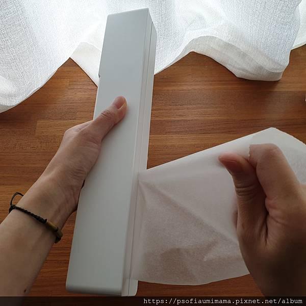 tower磁吸式保鮮膜盒-L(白) 山崎收納 Yamazaki 廚房收納 保鮮膜容易撕取