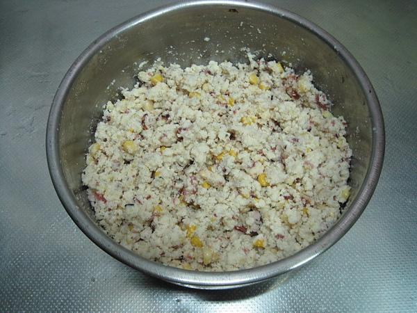 培根玉米豆渣餅