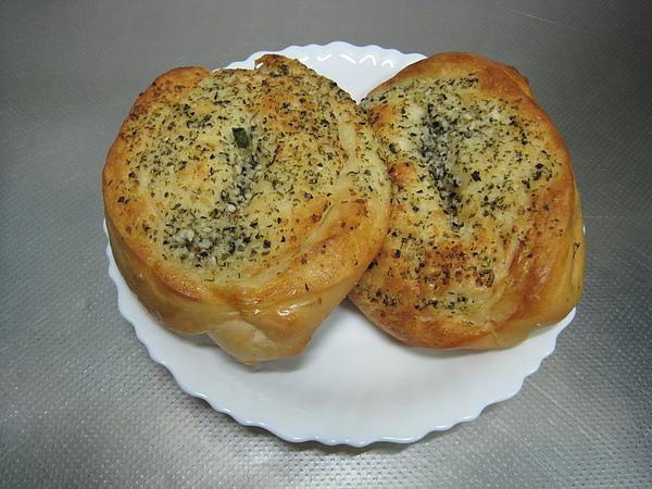 湯種蔥花麵包&湯種香蒜麵包