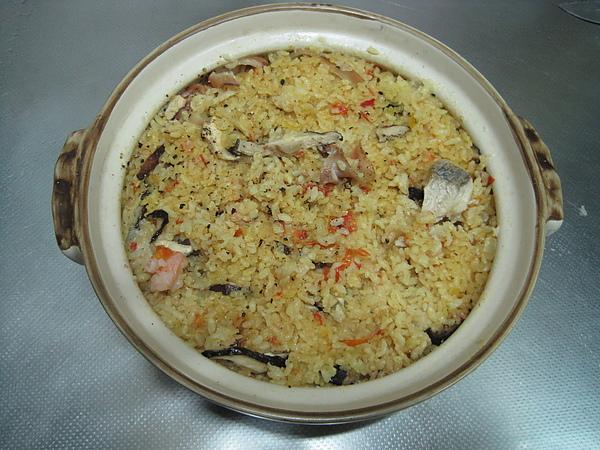 青椒鑲海鮮燉飯