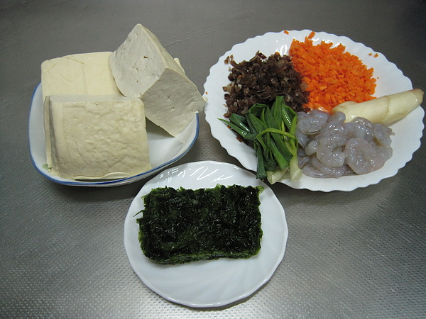 蝦仁白玉海菜羹