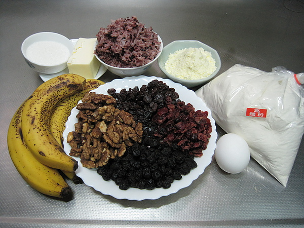 紫米香蕉果乾土司
