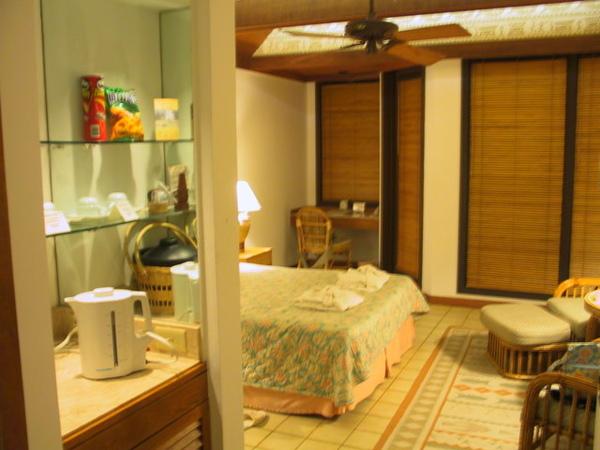 飯店房間~都是相連的小木屋,住起來別有一番滋味