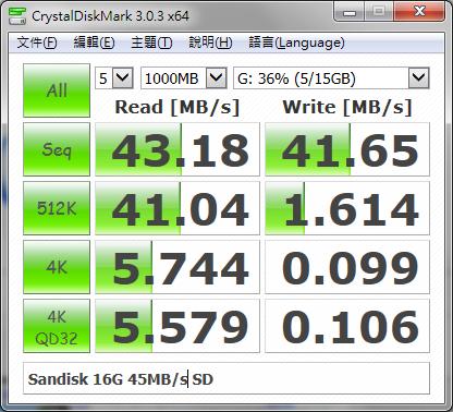 Sandisk 16G 45MB/s