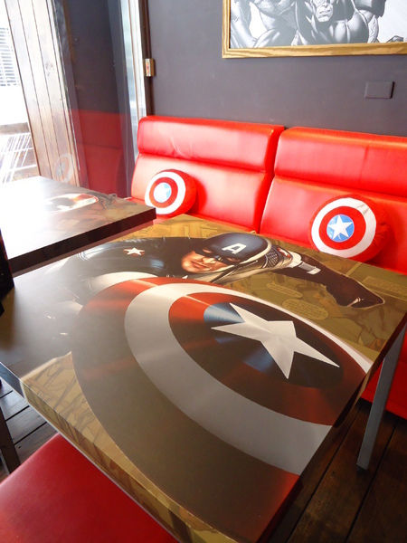 3mins美式餐廳(中美店):【台中早午餐】復仇者聯盟特色主題餐廳~~~3mins美式餐廳