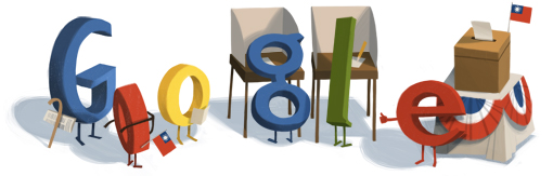 Google總統大選日logo