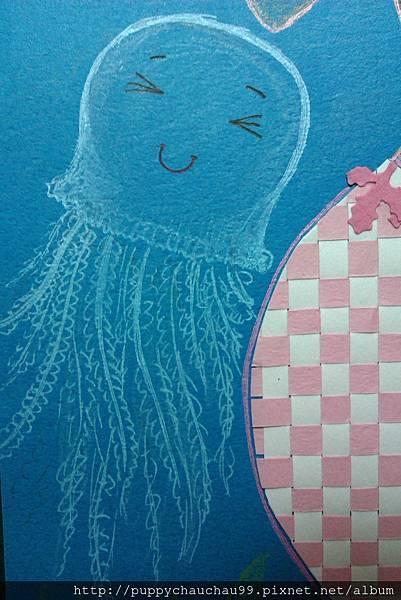開心的水藍色水母