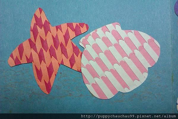 編織畫-海星貝殼