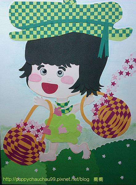 編織畫-星之綠精靈