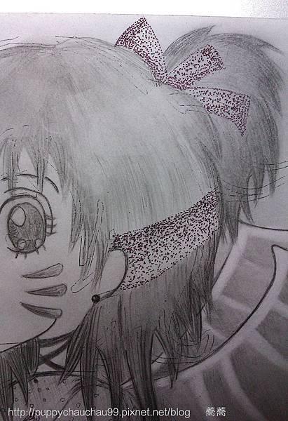原子筆點描法-髮飾
