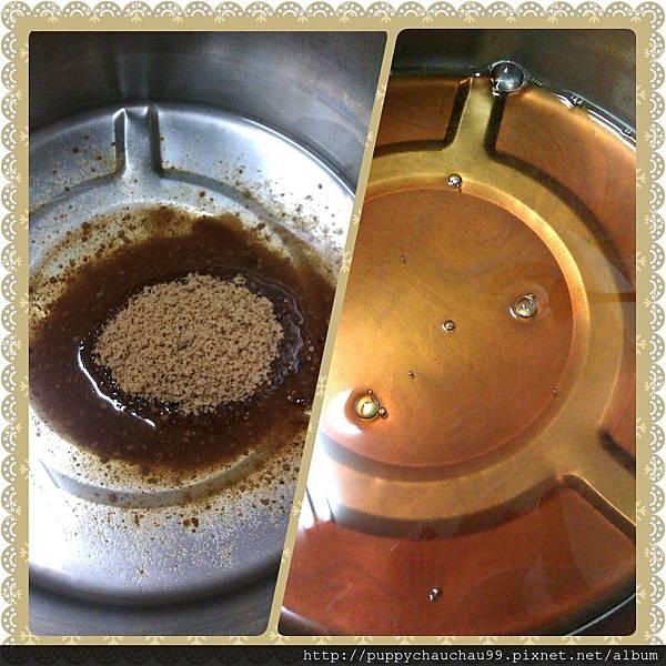 攪拌成黑糖水