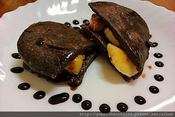 黑豆渣煎餅(夾入香蕉)