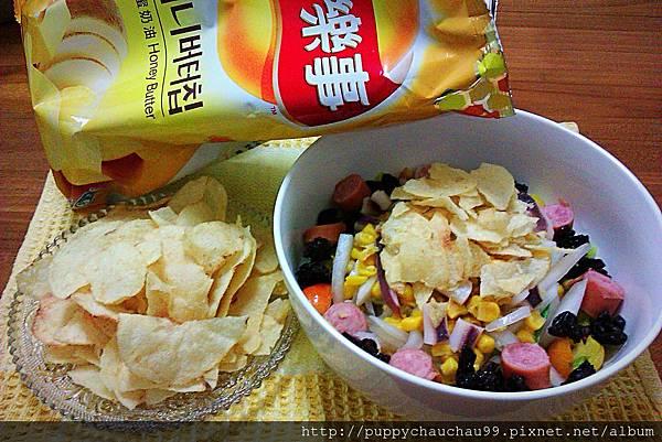 樂事蜂蜜奶油口味洋芋片及其他吃法(沙拉、洋芋片)