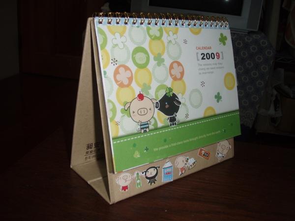 改造後的桌曆...我還把2008改成2009哩!