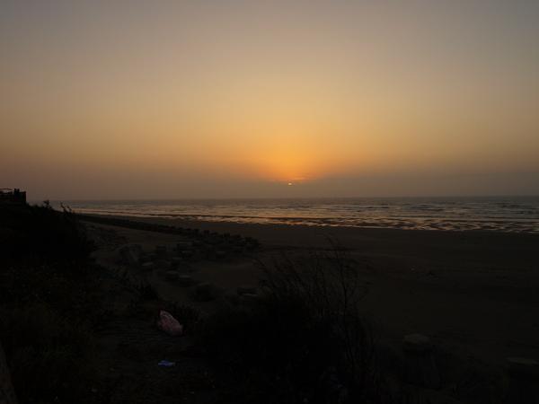 十七里海岸的夕陽