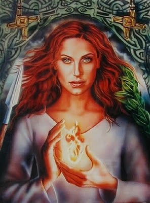goddess BRIGHID goddess card image large