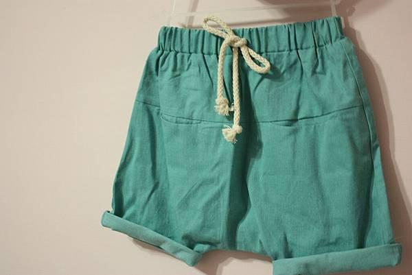 綠色棉麻褲