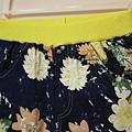 單寧藍花褲1