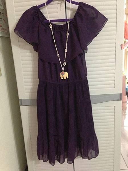 二手日貨,紫色洋裝,200元