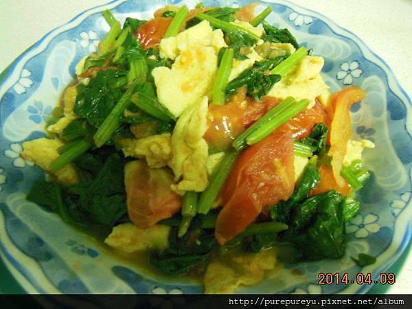 菠菜蕃茄炒蛋.7.JPG