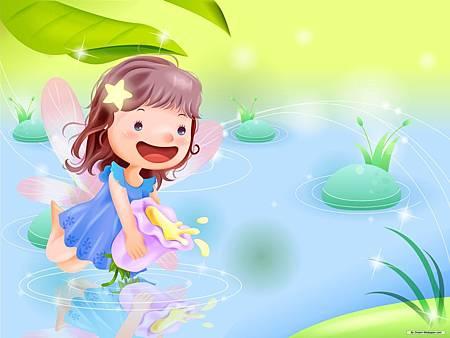 Childhood-Vector-Cartoon-Wallpaper