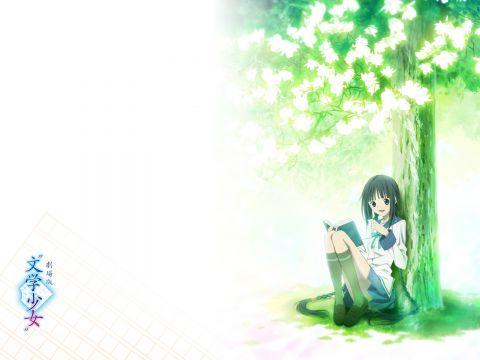 文學少女-樹下看書