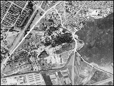 1945年2月2日高雄鳳山舊城舊航照-原件典藏美國國家檔案館-資料提供中央研究院人社中心GIS專題中心
