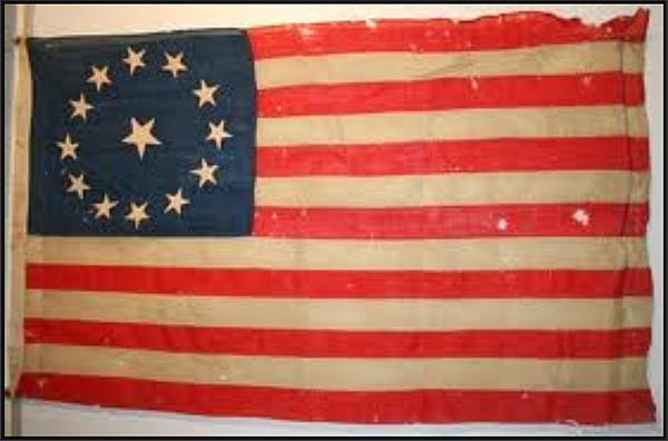 1787年13星美國星條國旗