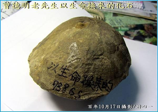 曾德明老先生以生命換來的化石-框MG_2476