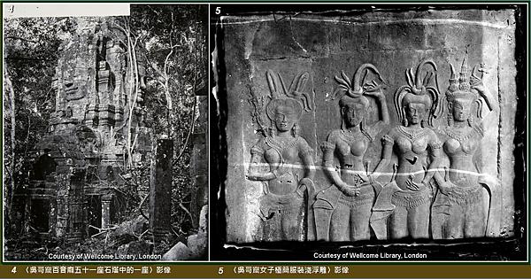 4、5吳哥窟石塔與女子極簡服裝淺浮雕.png