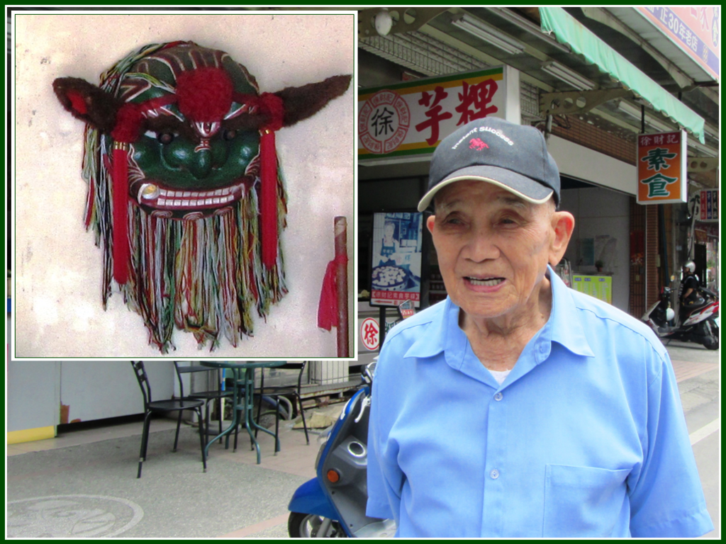照片2:陳時檀與他糊製的青頭獅(2012,游永福攝影).PNG