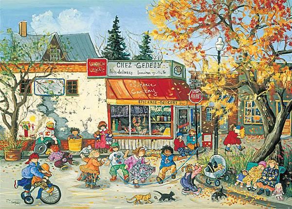 15-Corner Store in Fall