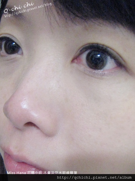 Miss Hana 花娜小姐 不暈染防水眼線膠筆-試色