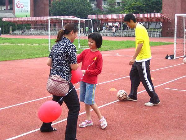 足球場母女同歡