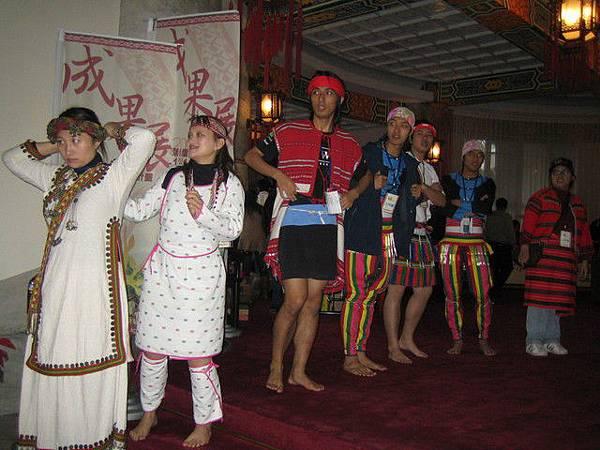 輔大原民社同學的迎賓舞