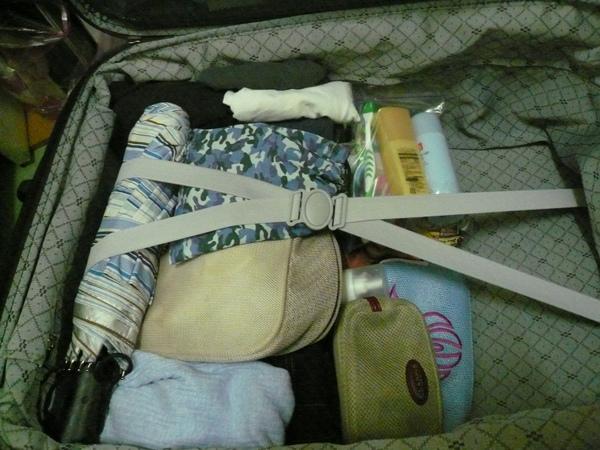 兩個人出發時的行李