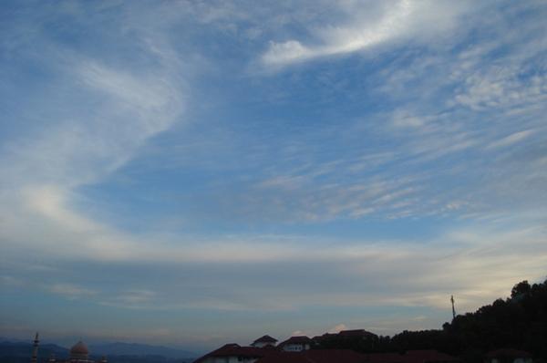 有云的天空