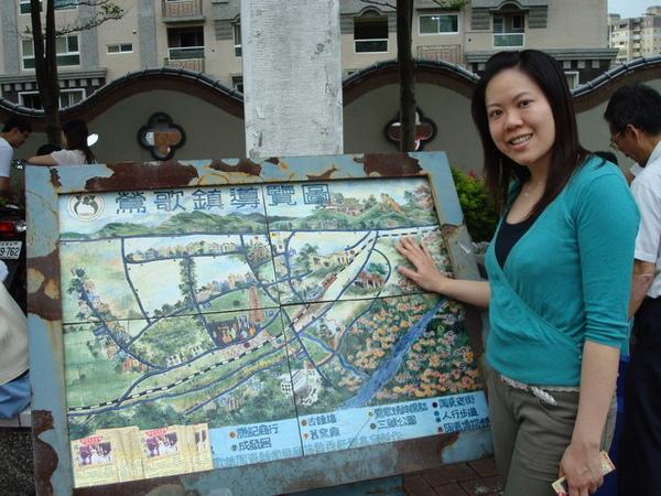 陶瓷做的地圖很特別