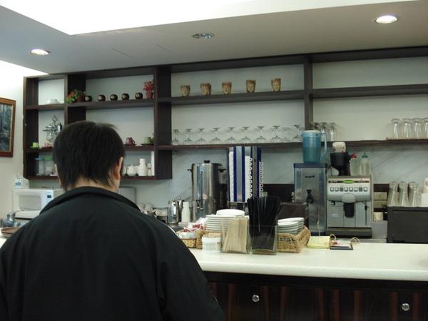咖啡廳的吧台