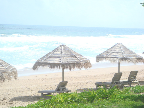 海邊的躺椅