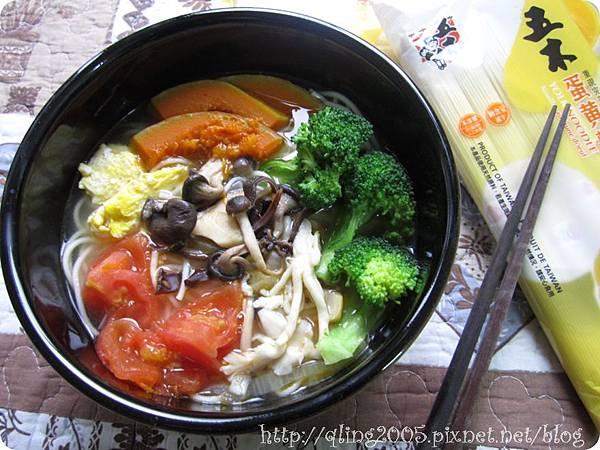 菇菇蔬食蛋黃麵