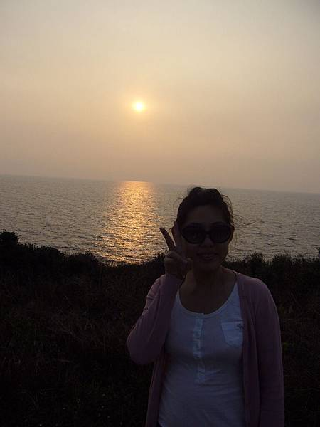 海邊的夕陽很美