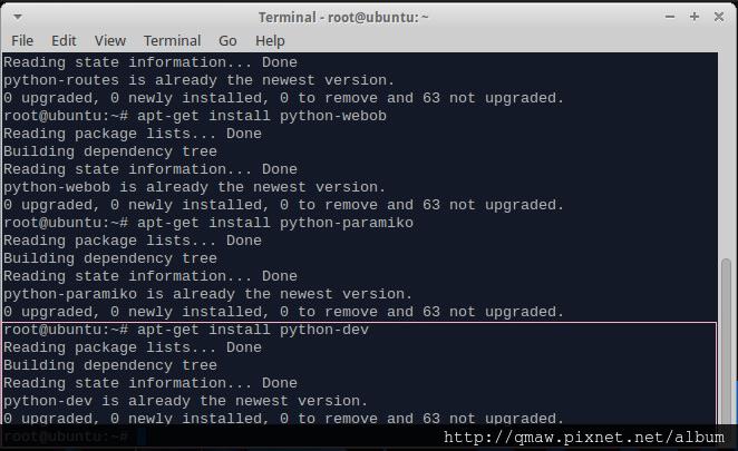 install python-dev